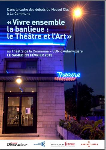 Vivre ensemble la banlieue : Le Théâtre et l'Art dans actualites banlieue