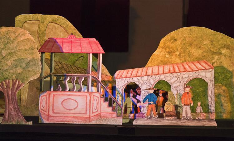 Duraznos color durazno -Des pêches couleur pêche et Don Chico facto-teatro