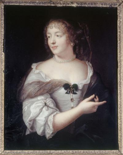 """""""La marquise de Sévigné"""" de Claude Lefèbvre, tableau prêté par le musée parisien Carnavalet au château de Grignan."""