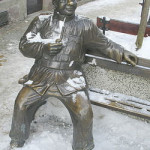 Švejk, sculpture d'Adam Przybysz en Pologne