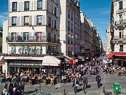 La rue Montorgueil en temps normal