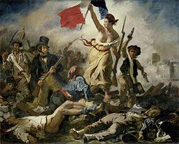 La liberté guidant le peuple d'Eugène Delacroix ©x